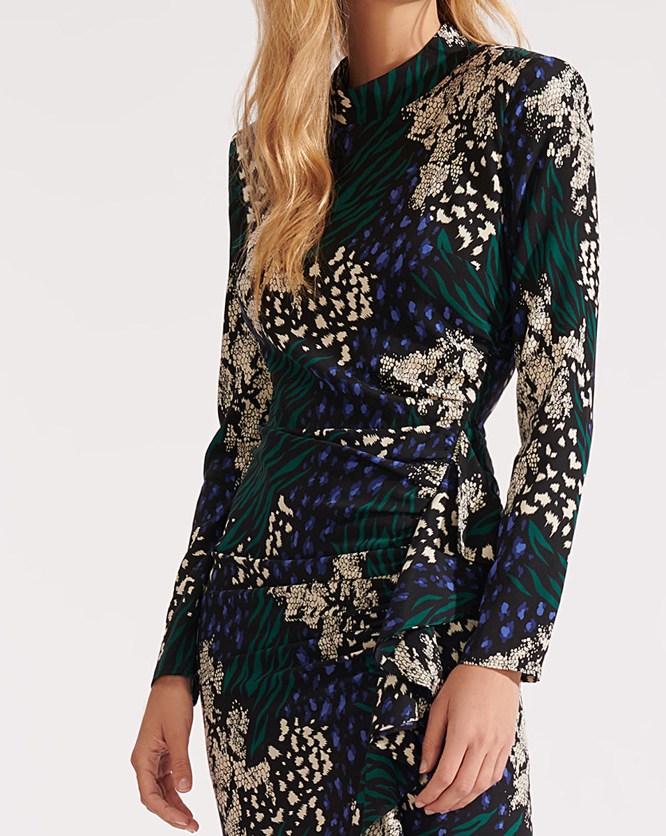 Louella Dress - Black Multi