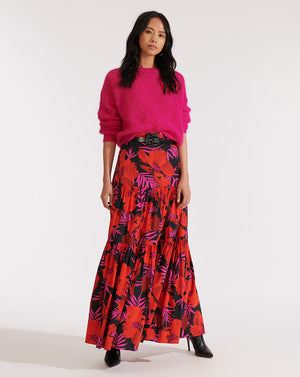 Serence Skirt - Poppy Multi