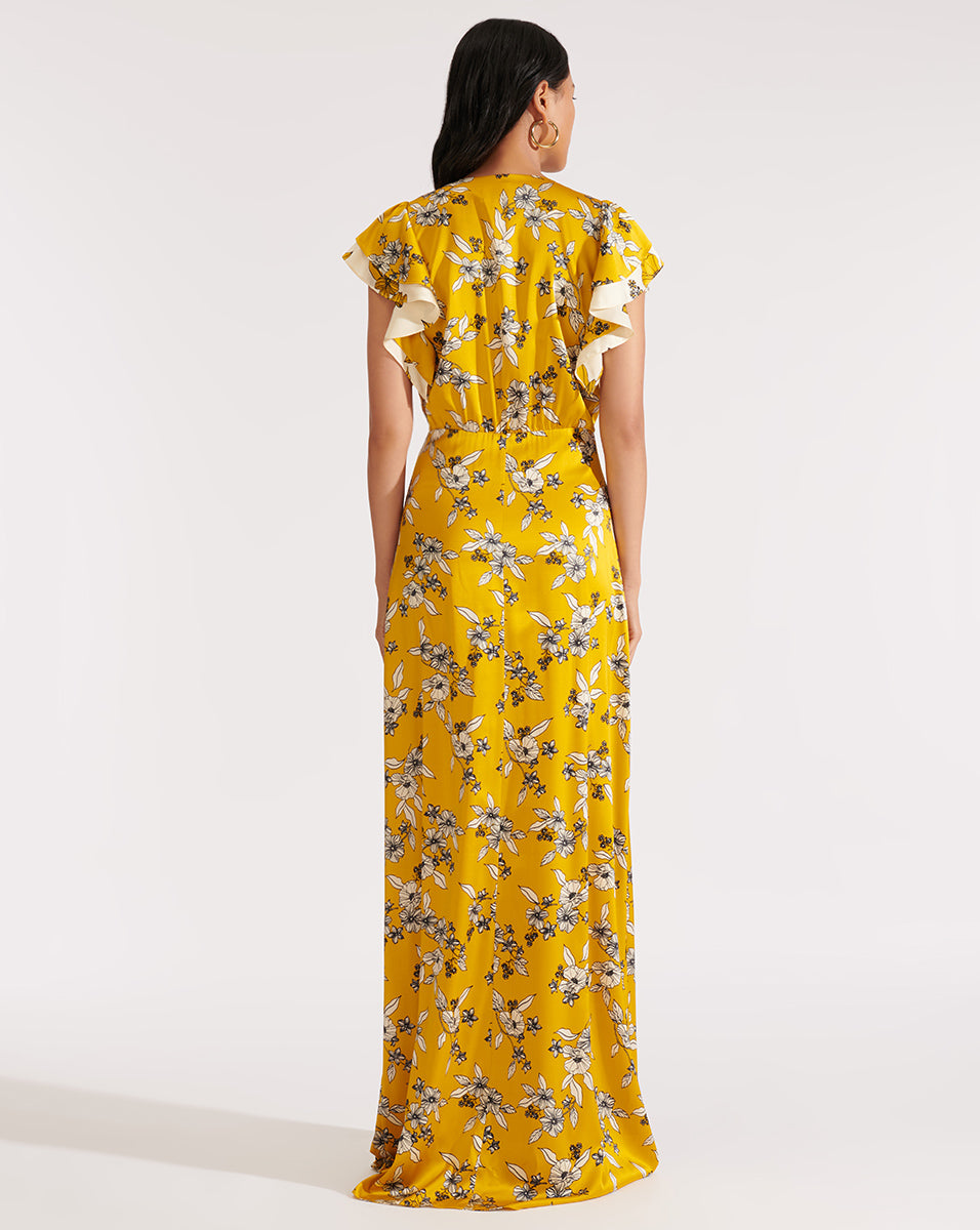 Padma Dress - Gold Multi