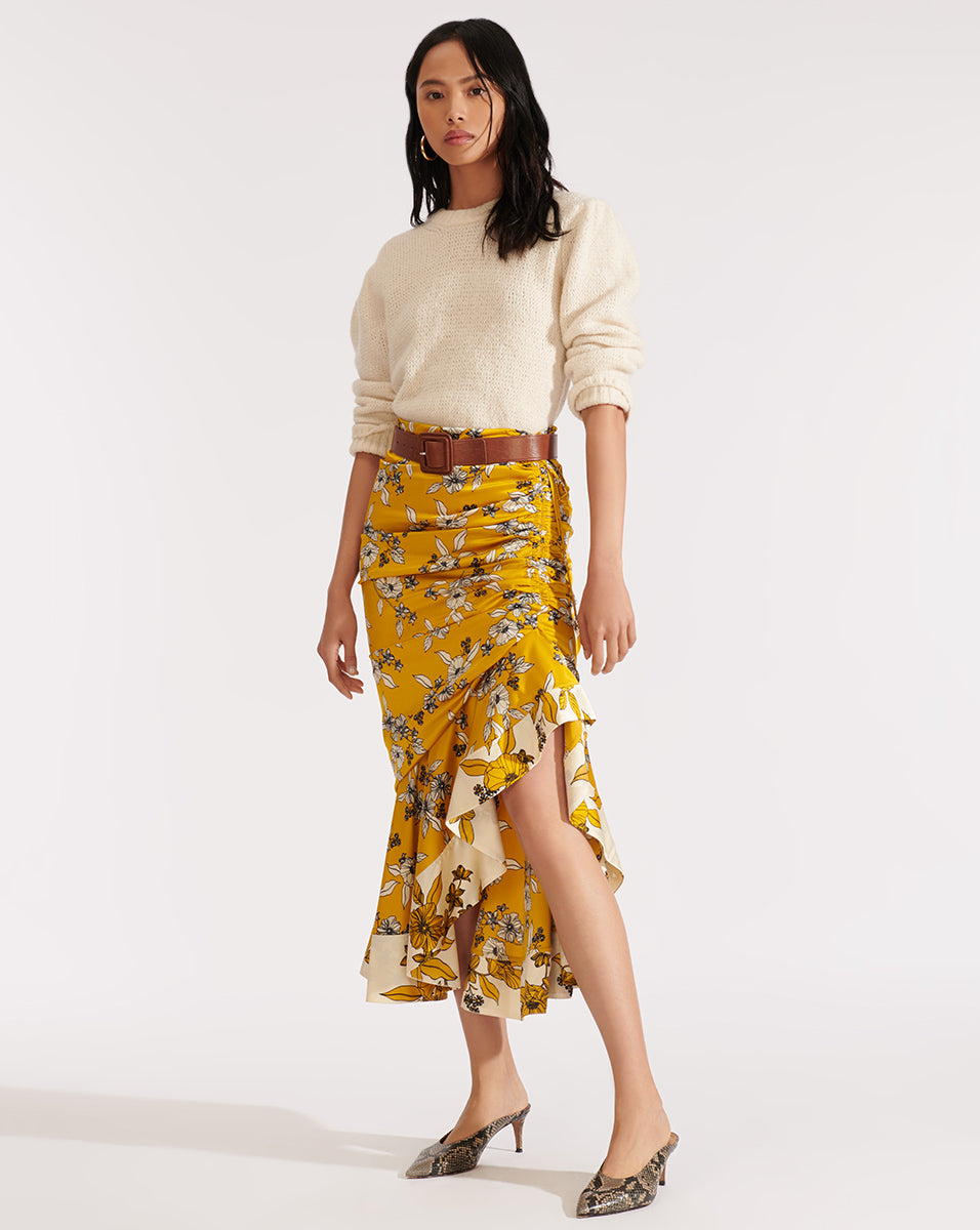 Darcy Skirt - Gold Multi