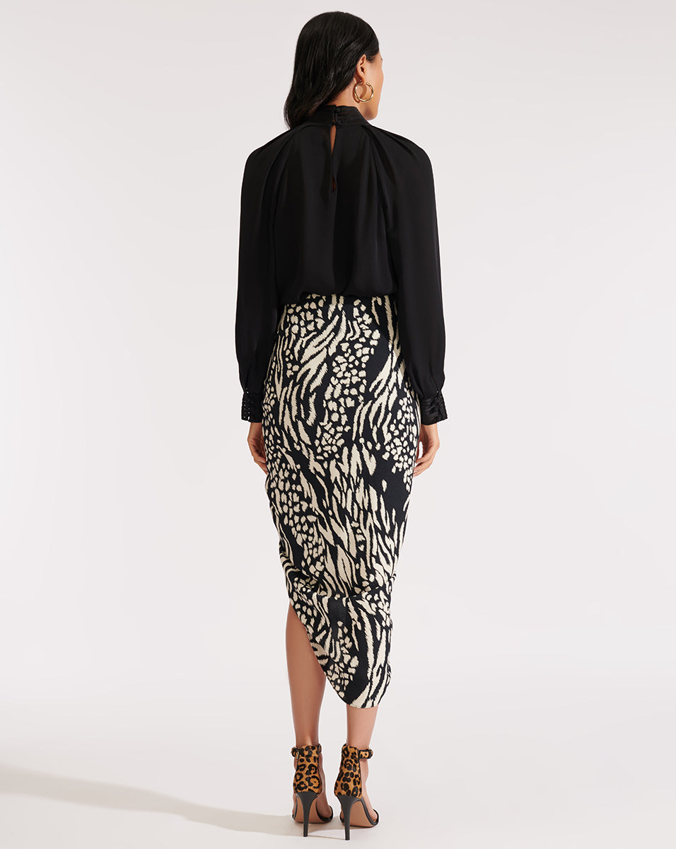 Ari Skirt - Black/bone
