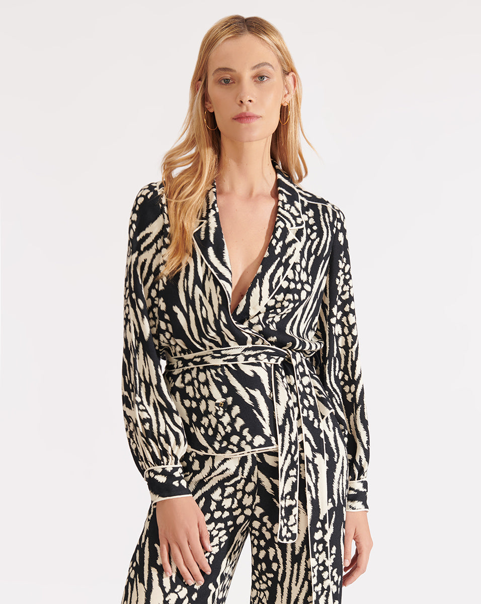 Clive Blouse - Black/bone