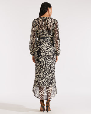 Mavis Dress - Black/bone