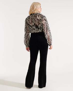 Ashlynn Blouse - Black/bone