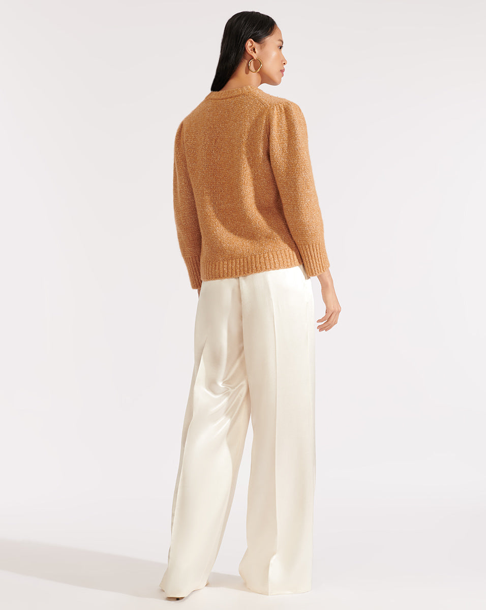 Holly S/s Pullover - Camel