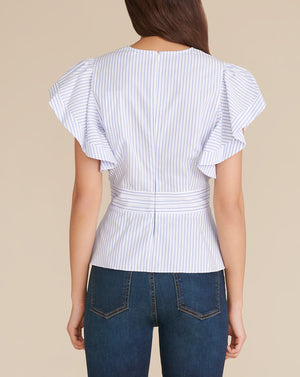 Han Top - Blue/white