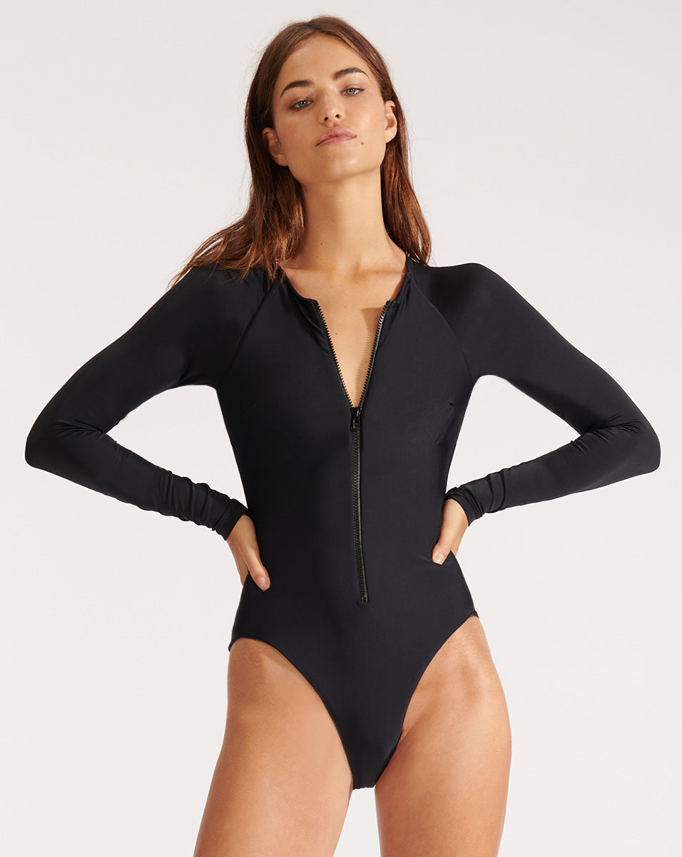 Dune Rash-Guard Swimsuit