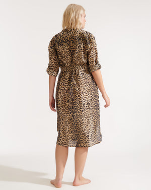 Makua Cover-Up Dress - Leopard