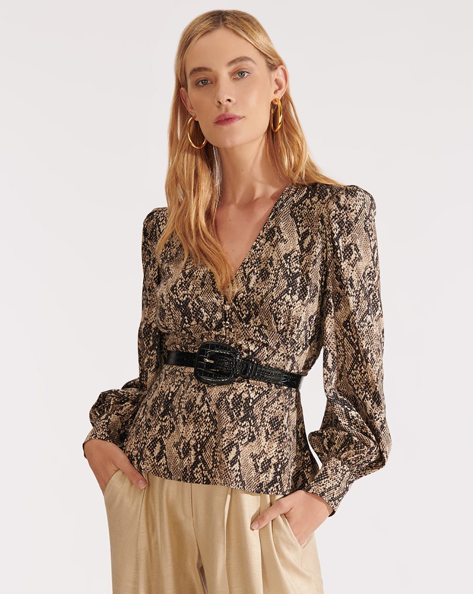 Thea Blouse - Nude