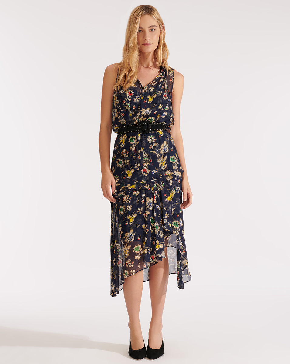 Corsica Dress - Navy Multi