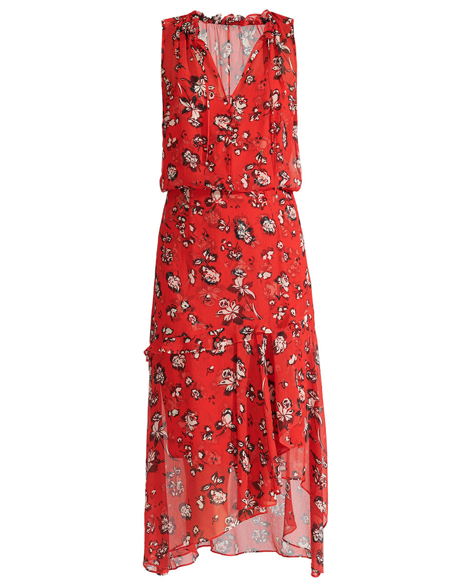 Corsica Dress - Red Multi