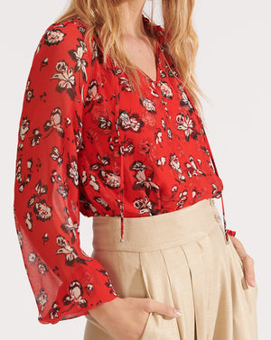 Antonette Top - Red Multi