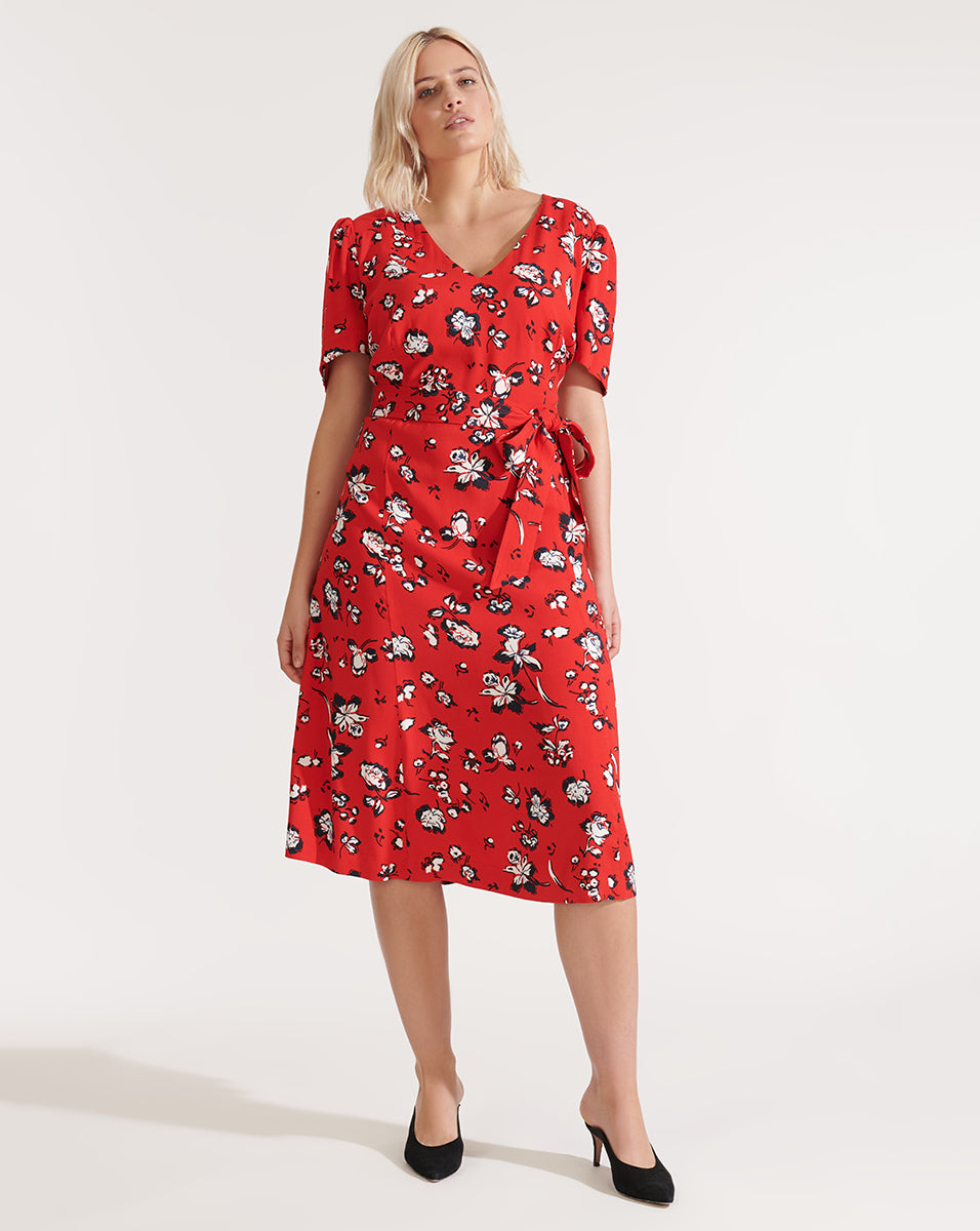 Joia Dress - Red Multi