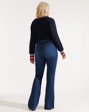 Beverly High-Rise Skinny Flare - Mineral Blue