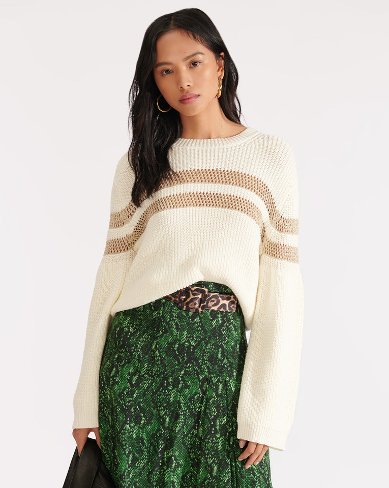 Georgiana Crew Neck Sweater - Ivory
