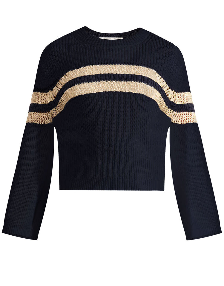 Georgiana Crew Neck Sweater - Navy