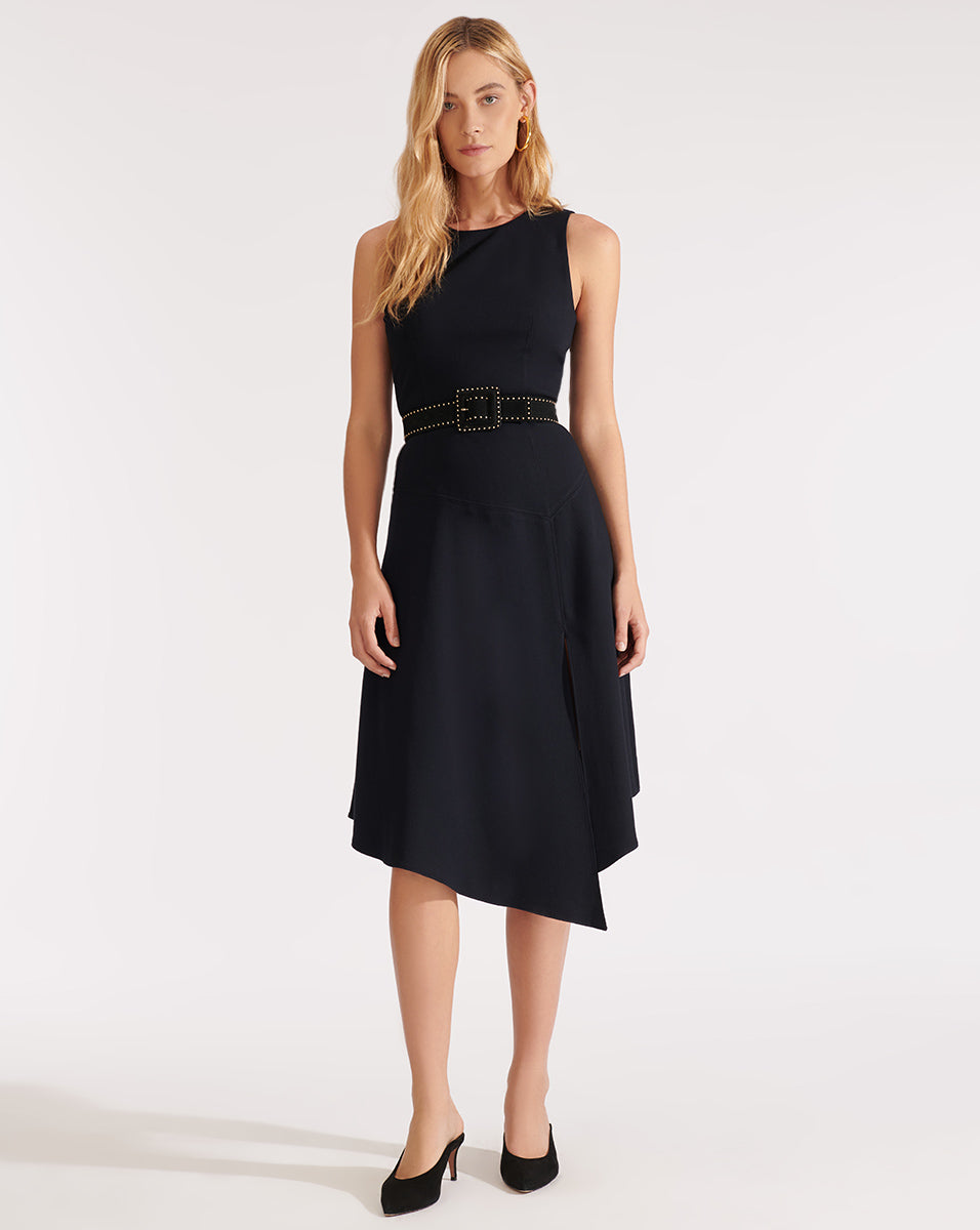 Angelica Handkerchief-Hem Midi Dress