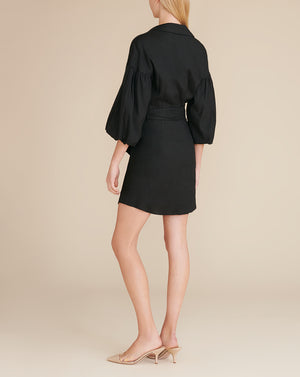 Samy Linen Dress - Black