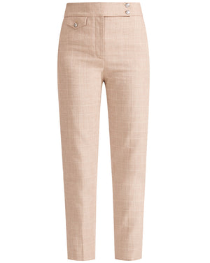 Renzo Heathered Plaid Pant - Khaki