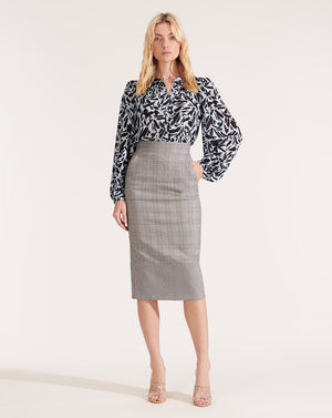 Twain Skirt - Black White