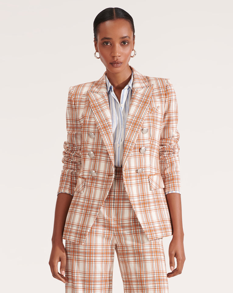 Miller Plaid Dickey Jacket - White Multi