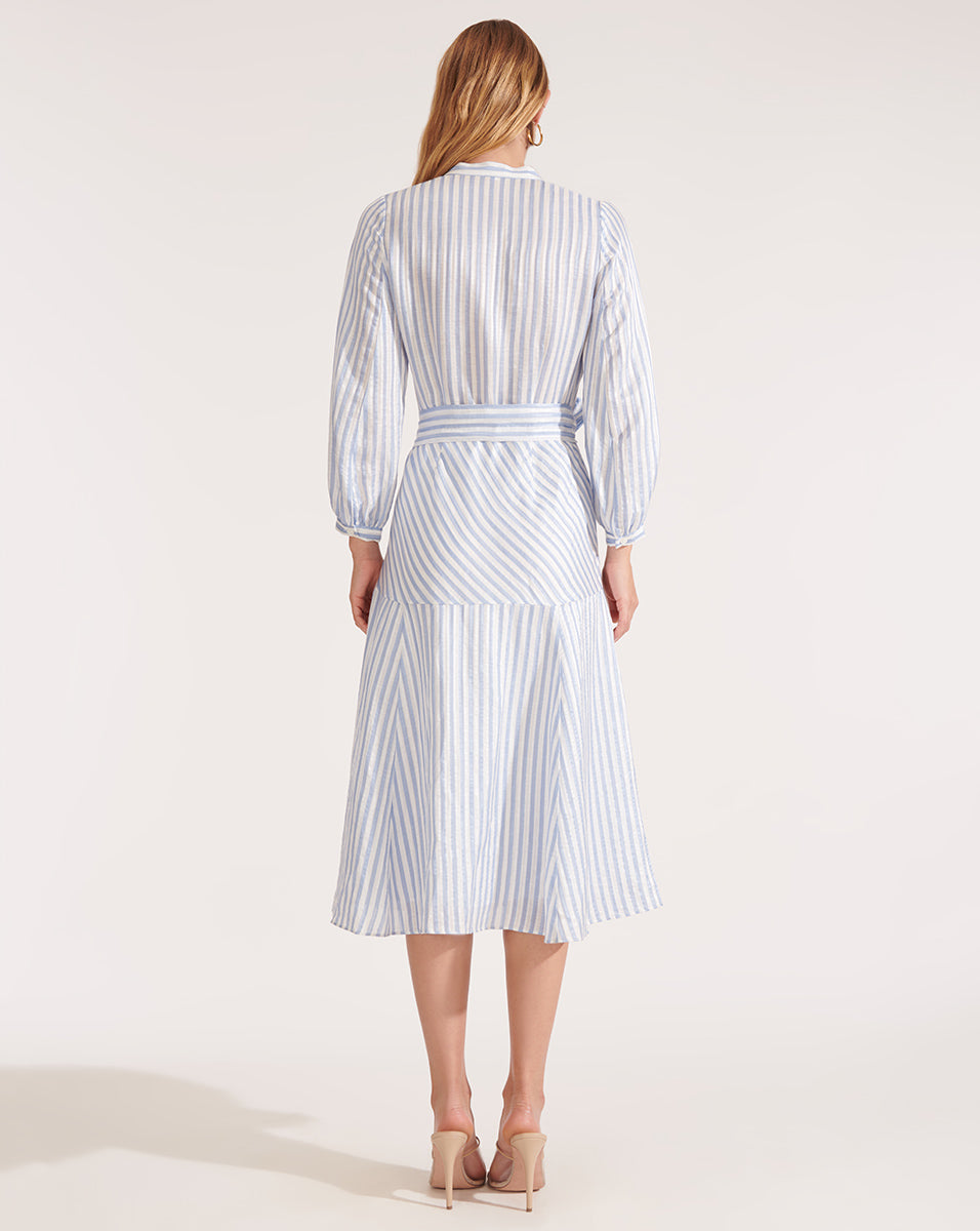 Jenna Dress - Blue/white