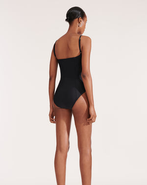 Bridge One-Piece Swimsuit - Black