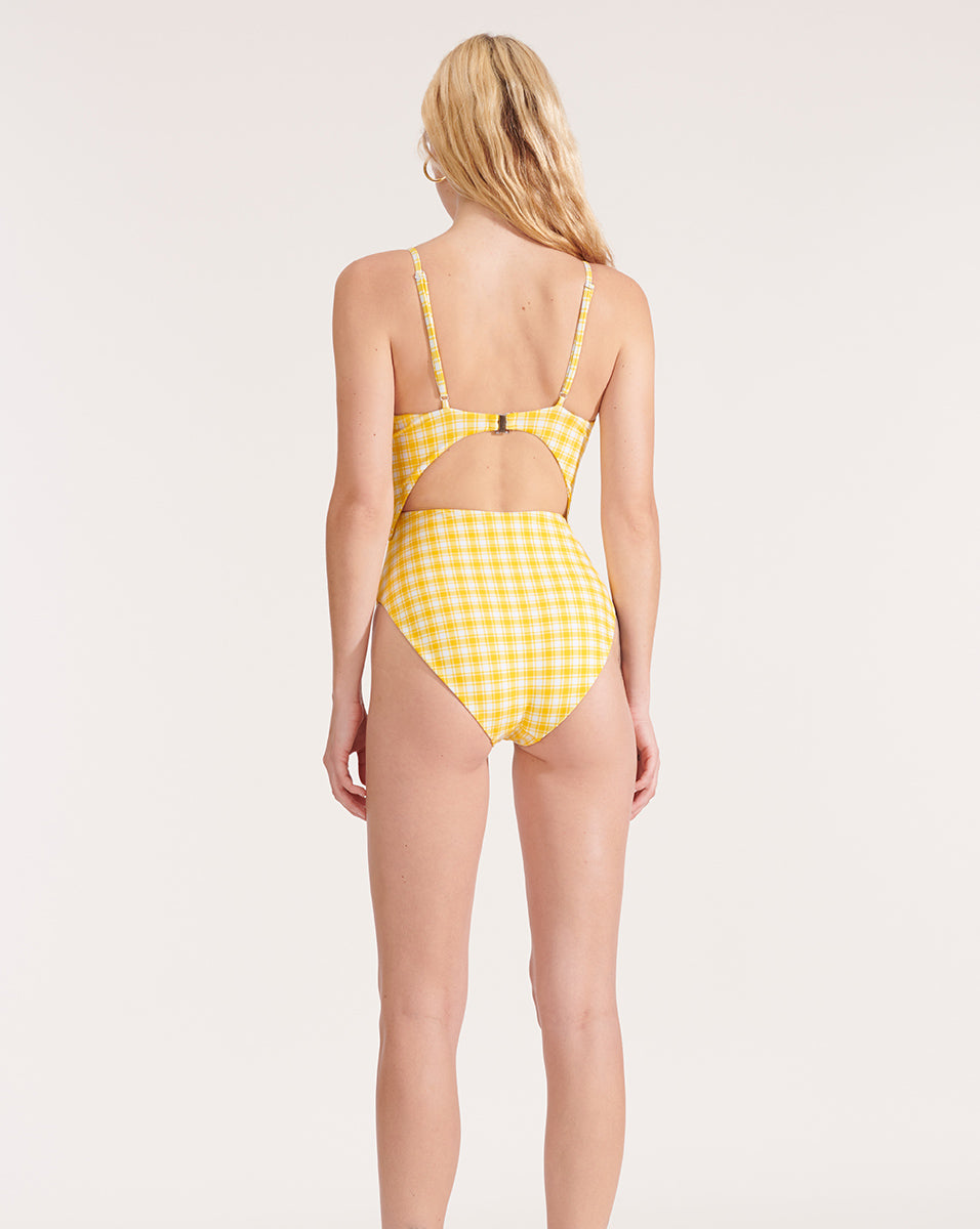 Aniston Cutout Swimsuit - Sun