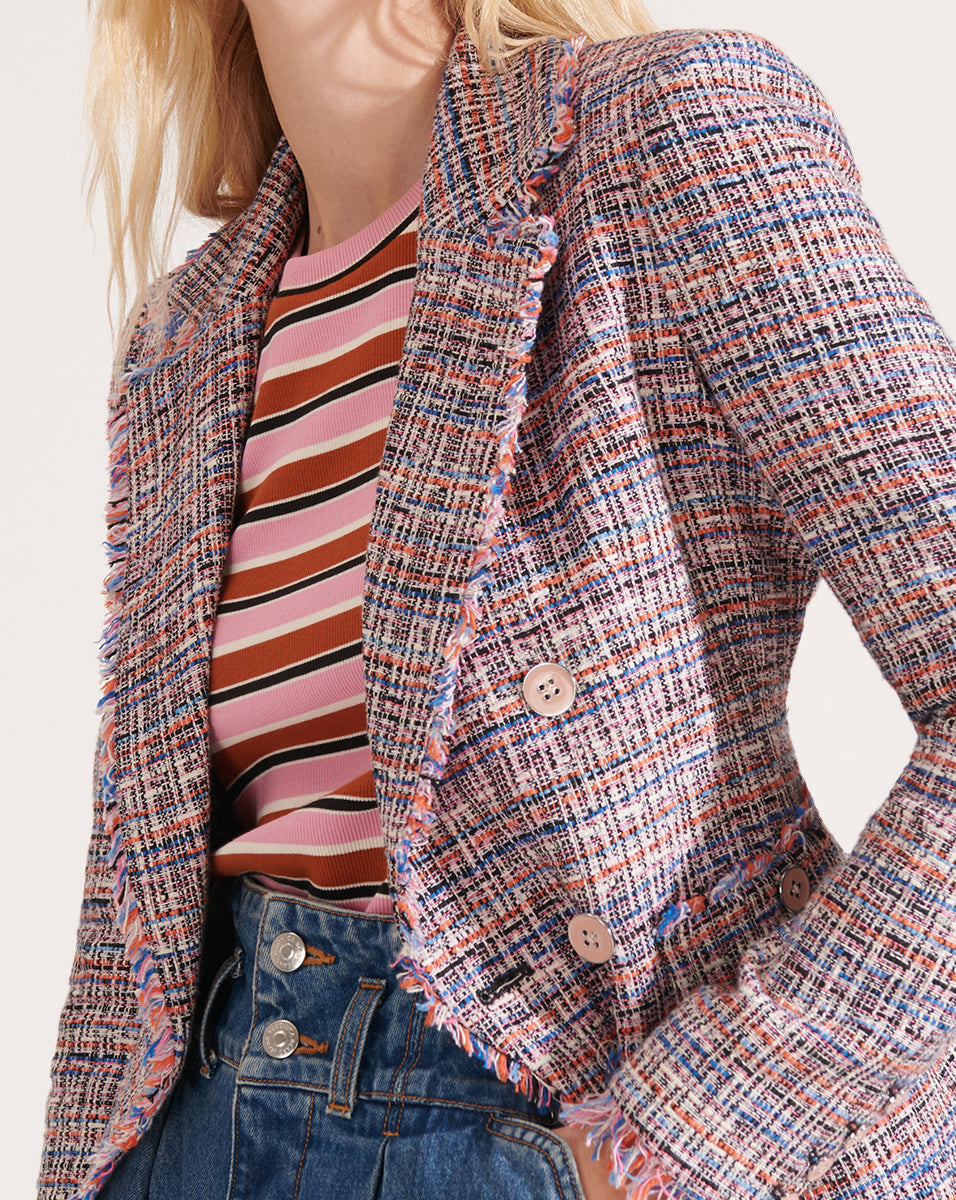 Theron Multicolored Tweed Jacket - Multi