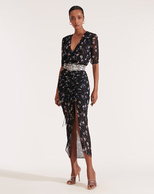 Mariposa Dress - Black Multi