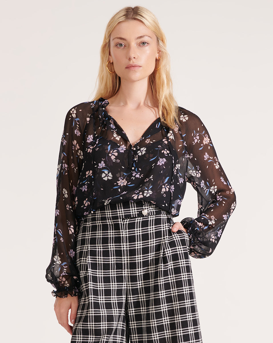 Antonette Windswept-Floral Top