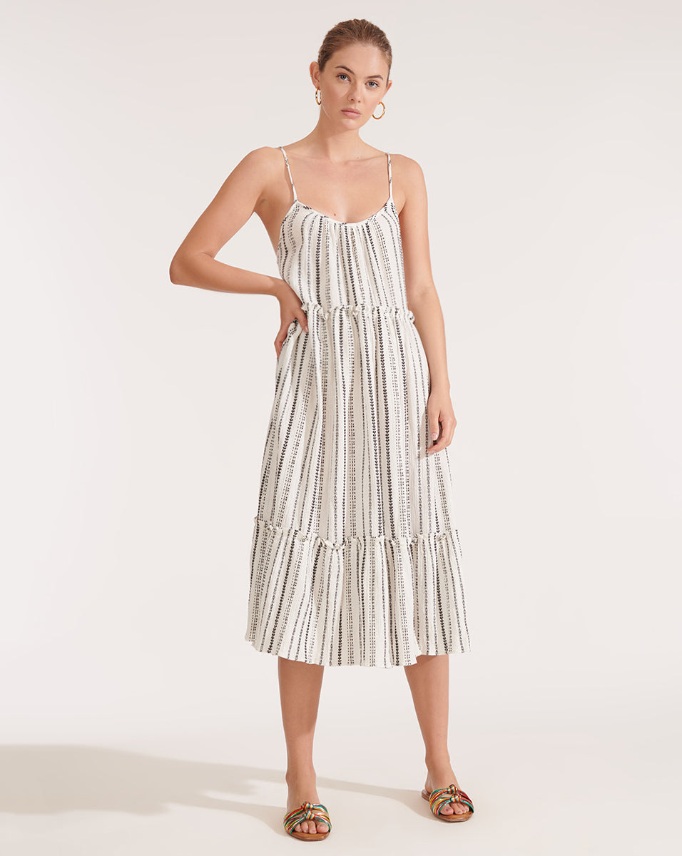 Ayesha Striped Cover-Up Dress