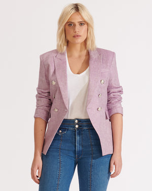 Miller Linen Dickey Jacket - Lilac