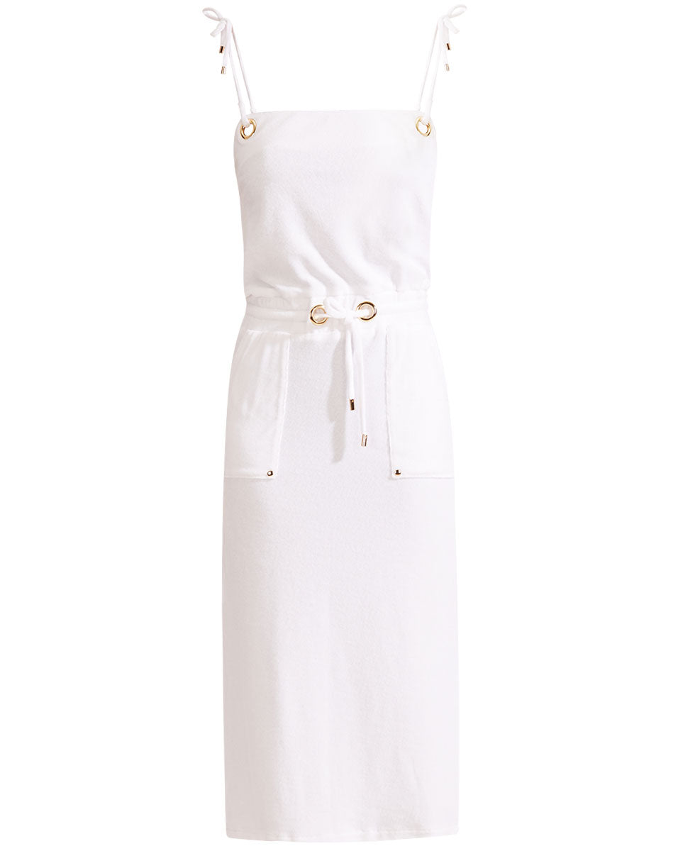Karla Terry Dress - White