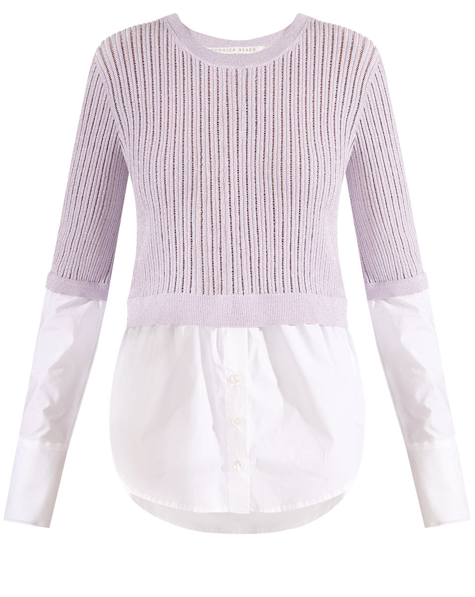 Kaley Mixed Media Sweater - Lilac