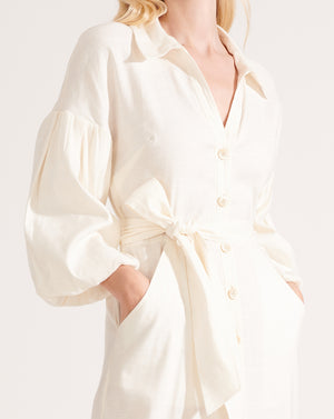 Samy Linen Dress - Off-White