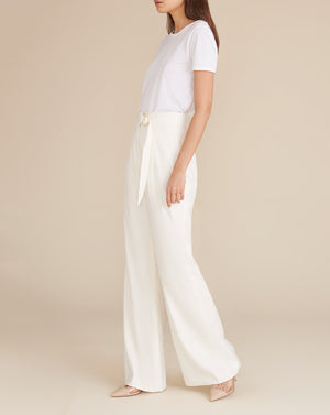 Woode Linen Pant - Off-White