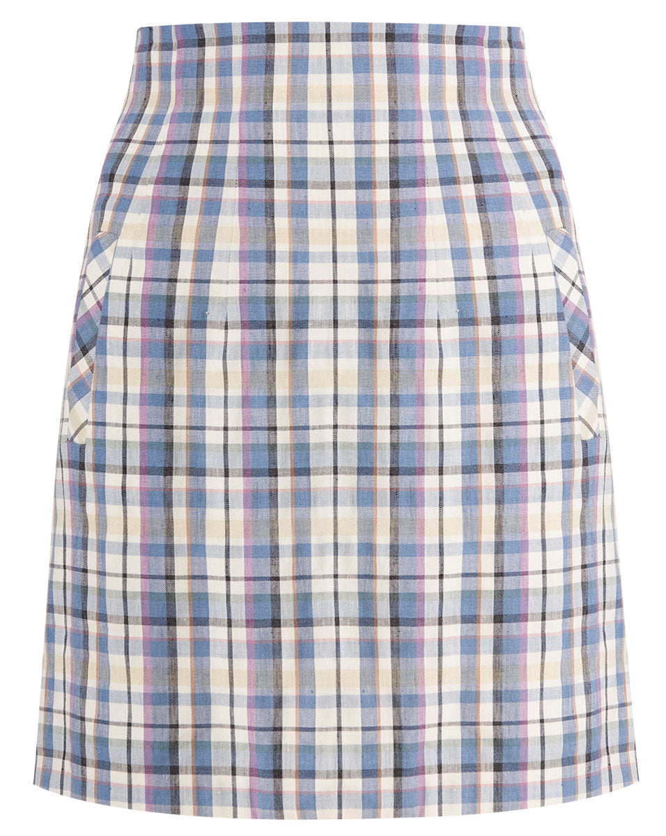 Roman Skirt - Blue Multi