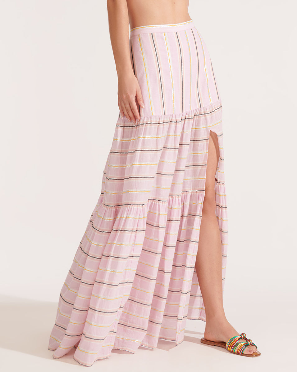 Serence Striped Skirt - Orchid