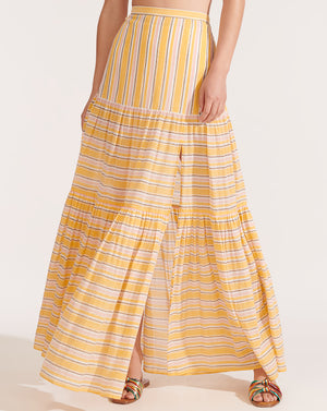 Serence Striped Skirt - Sun