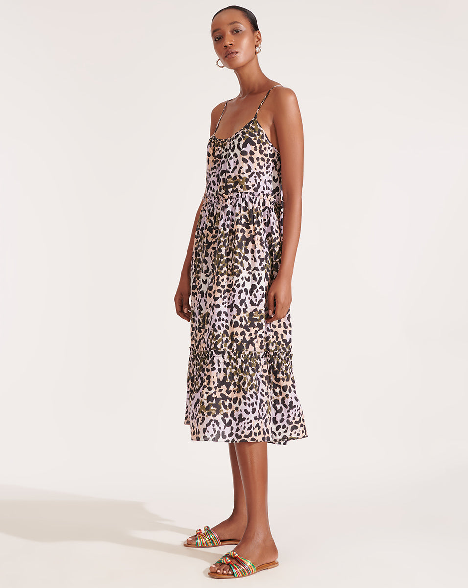 Ayesha Leopard Cover-Up Dress