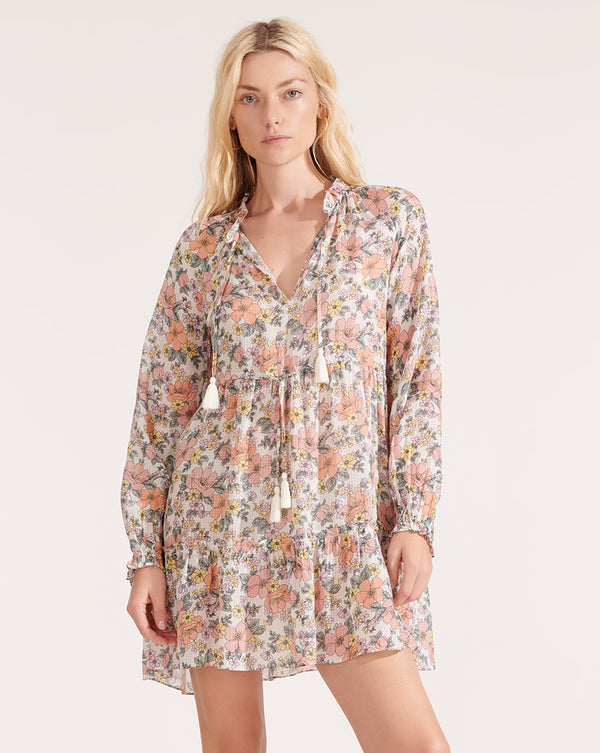 Danica Floral Dress - Off White Multi