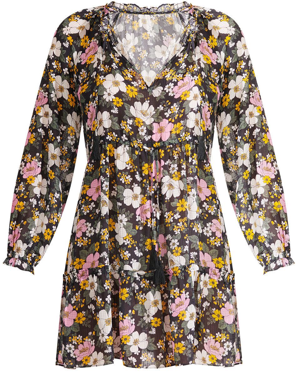 Danica Floral Dress - Black Multi