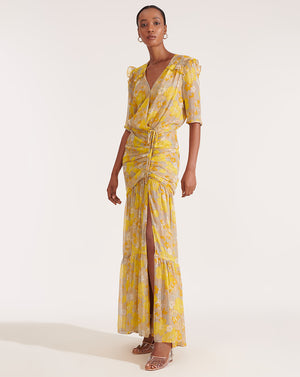 Mick Dress - Yellow Multi