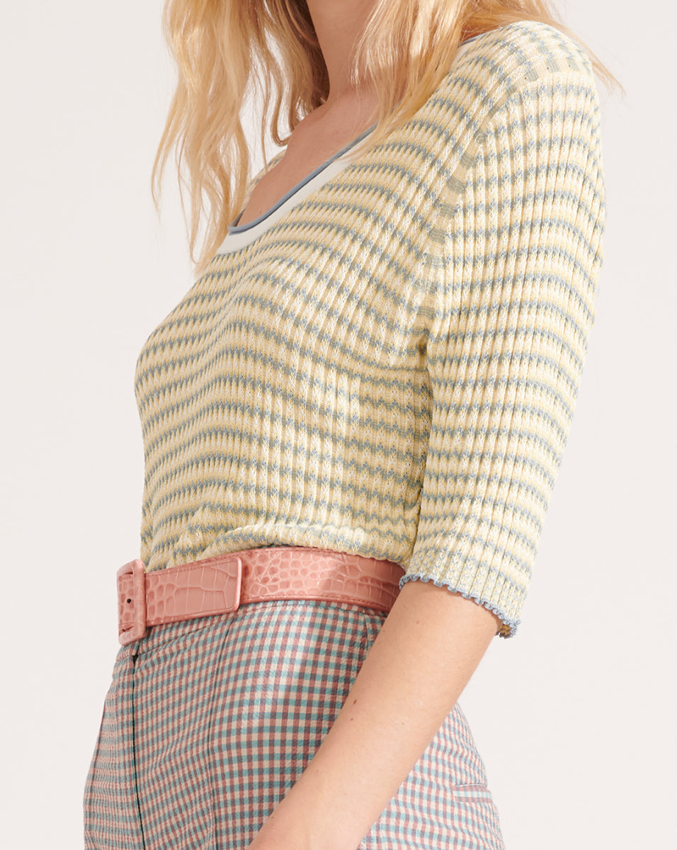 Dany S/s Scoop Neck Pullover - Multi