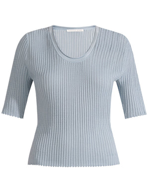 Dany S/s Scoop Neck Pullover - Sage