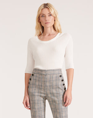 Dany Scoop-Neck Pullover - Ivory