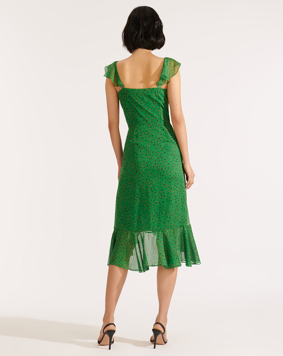 Amal Dress - Green Multi