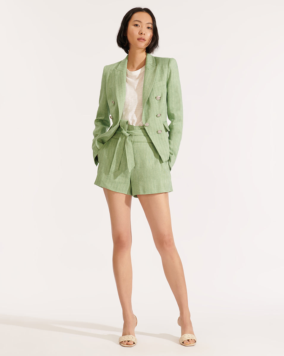 Diego Linen Dickey Jacket - Green