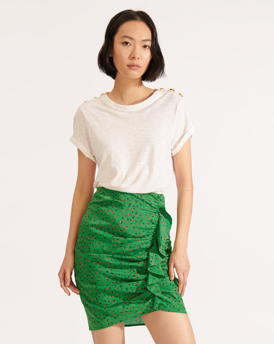 Spencer Floral Skirt - Green Multi